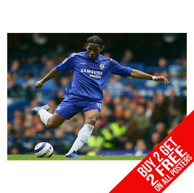 Didier Drogba Chelsea Poster Art Print A3 A4 Size - Buy 2 Get Any 2 Free