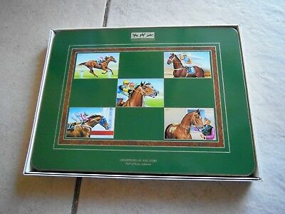 Australian Racing Museum Placemats X 6, Brand New ,champions Of Turf Inductees