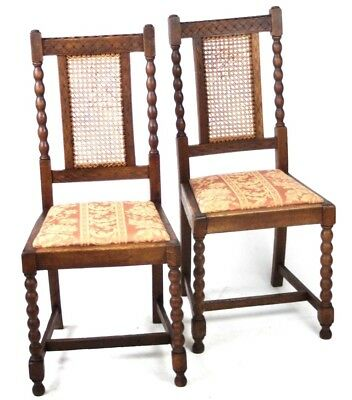 A pair of Antique Oak Dining Chairs - FREE Shipping [PL4512]