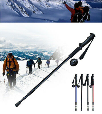 Hiking Trekking Poles Anti Shock Adjustable Walking Stick Camping Cane