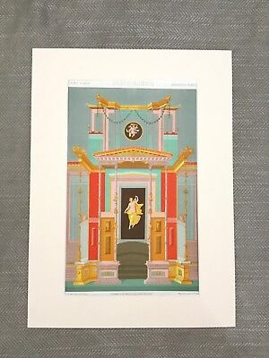 Ancient Greek Roman Temple Fresco Art RACINET Antique Chromolithograph Print