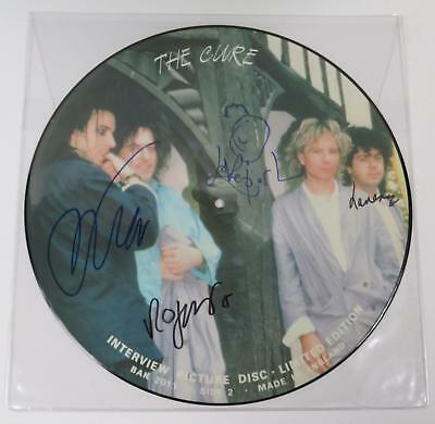 "Robert Smith THE CURE Signed Autograph ""Interview"" Vinyl LP PictureDisc by All 4"
