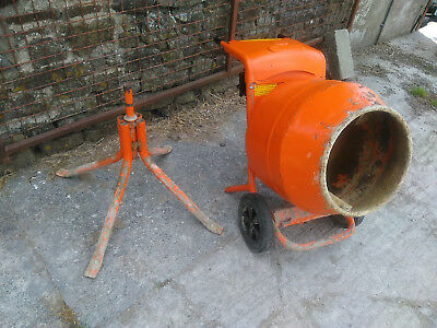 Belle Petrol Cement Mixer Minimix 150 with Stand.