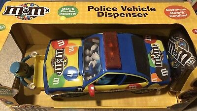 M&M's Police Vehicle Candy Dispenser with Sound and Lights ~ New in Box