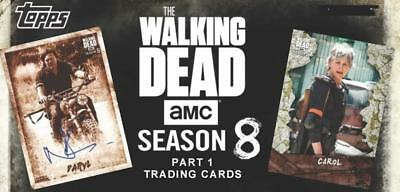 2018 Topps Walking Dead Season 8 Part One Parallel Cards Mold/Mud Pick From List