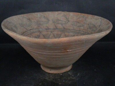 Ancient Large Size Teracotta Painted Pot With Amimal Indus Valley 2500 BC #Ik488