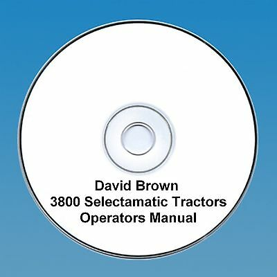 David Brown 3800 Selectamatic Operators Manual PDF CD