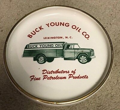 Ashtray, Buck Young Oil Co, Lexington, NC, J V Griffith Advertising