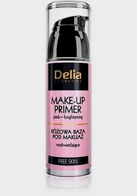 Delia Cosmetics Brightening Pink Primer Base under make-up Skin illuminate skin