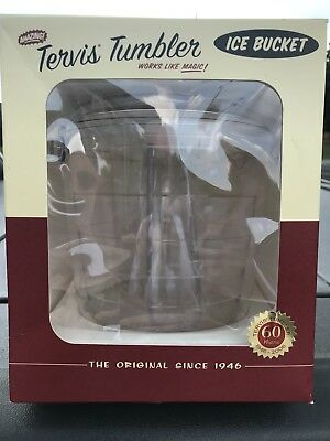 New! Tervis Tumbler 2.5 Qt Ice Bucket Clear Thermal Double Wall Bar W/tongs