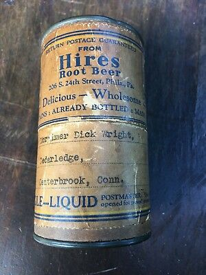 Vintage Hires Root Beer sample bottle in box with instructions