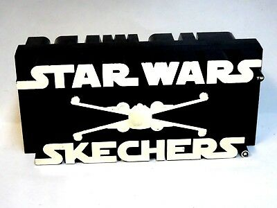 RARE Star Wars Skechers Shoes The Menace Plastic Store Display* HArd to find