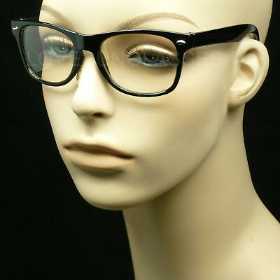 Clear glasses kids small black frame nerd geek hipster style