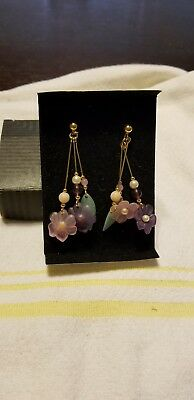 Vintage Avon Summer Set Collection Pierced Earrings With Surgical Steel Posts
