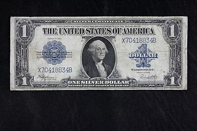 $1 1923 Horse Blanket Large silver certificate X70418834B one dollar, FREE SHIP.
