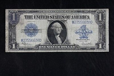 $1 1923 Horse Blanket Large silver certificate M27556638D one dollar, FREE SHIP.
