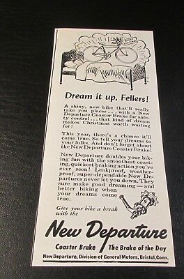 Orig. Magazine Ad..[1946 ]..NEW DEPARTURE--<BICYCLE COASTER BRAKES>