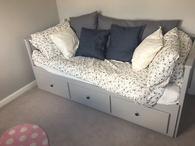 Ikea Hemnes Day Bed 3 Drawers Grey Barely Used 1 Yr Old Mattresses