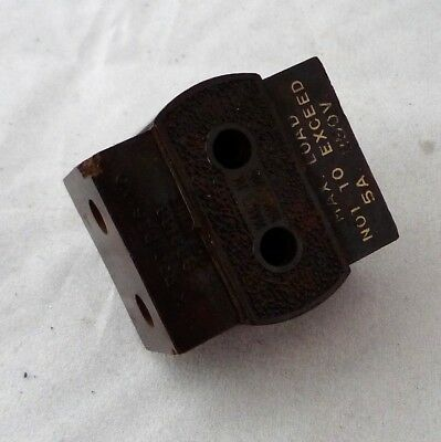 Vintage Bakelite 2 Round Pin 5amp 250v Electric Plug Adaptor For 3 Plugs – Brown