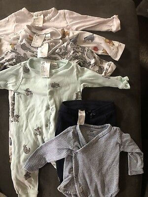 8PC H&M Baby Clothes Lot Unisex Boy Girl 2-4 And 4-6 Month Pieces Disney