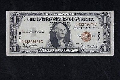 $1 HAWAII 1935A brown seal silver certificate C03273677C one dollar FREE SHIP.