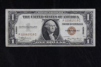 $1 HAWAII 1935A brown seal silver certificate P32982519C one dollar FREE SHIP.