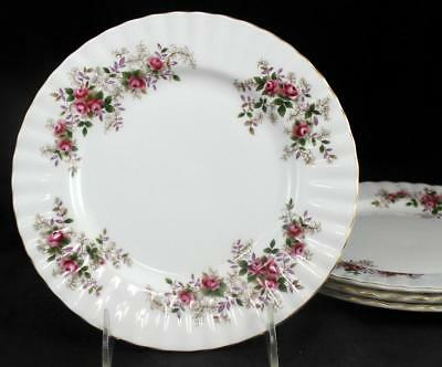 Royal Albert LAVENDER ROSE 4 Salad Plates Bone China GOOD CONDITION