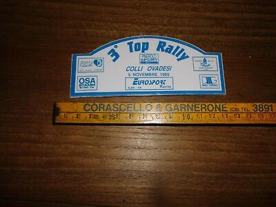 3° Top Rally Colli Ovadesi 1995 Pinerolo Sport Adesivo Sticker Aufkleber