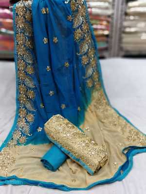 Indian New Womens & Girls Ethnic Wear Cotton Embroidary Unstitiched Suits S-13