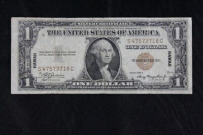 $1 HAWAII 1935A brown seal silver certificate S47573716C one dollar FREE SHIP.