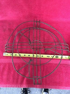 "Vintage Antique Emerson GE Westinghouse Fan Cage & Badge for 12"" Blade Not Brass"