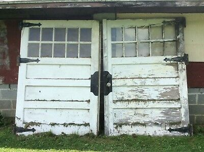 """VINTAGE CARRIAGE DOORS 108"""" wide X 79"""" tall"""