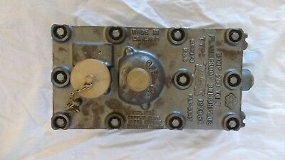 240V Vintage Cast Iron & Brass Industrial Flameproof Switch / Socket By Walsall