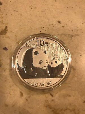 2nd lot — Chinese Mint China ¥ 10 Yuan Panda 2011 1 oz .999 Silver Coin