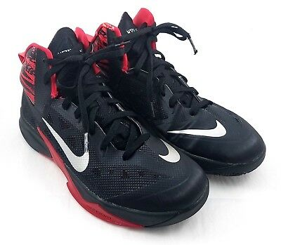 NIKE ZOOM HYPERFUSE Black Red Men's 11 Basketball Shoes