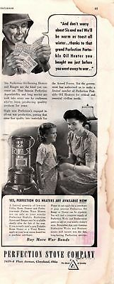1943 Country Gentleman Magazine Advertisement Perfection Stove Co. 1 Page A407