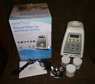 Sound Oasis BLS-100SO Natural Wake Up Sleep System Alarm Clock Aromatherapy