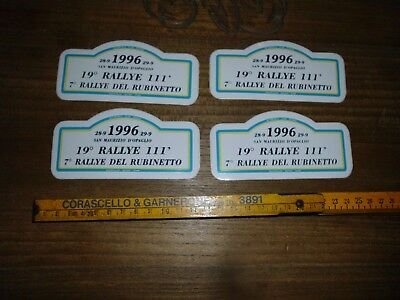 4X 19° Rally 111 Minuti 1996 Lotto Adesivo Sticker Aufkleber Autocollant