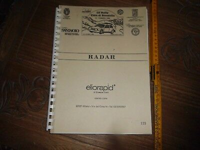 3° Rally Citta' Di Stradella 1988 Libro Radar Road Book