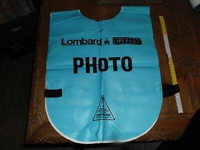 Lombard Rac Rally Gilet Fotografo Photo   Anni 80 In Gomma Rallye