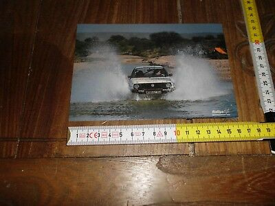 Kenneth Eriksson Vw Golf Gti Argentina 1986 Rally Card Cartolina Postcard Karte