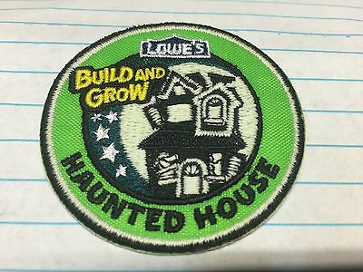 Lowe's Build and Grow HAUNTED HOUSE Iron-On Patch NEW