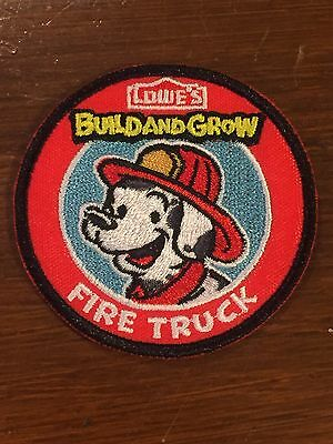 Lowe's Build and Grow FIRE TRUCK Iron-On Patch NEW