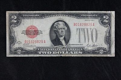$2 1928A large red seal US Note B01629825A two dollar, series A, FREE SHIPPING