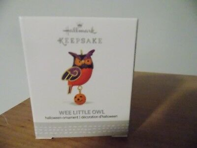 2017 Hallmark Ornament ~  WEE LITTLE OWL ~ Miniature HALLOWEEN Ornament ~ NIB
