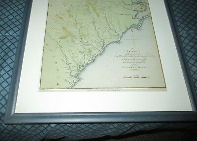 1806 Map of VIRGINIA & NORTH SOUTH CAROLINA lists SOUTHERN ARMY BATTLE SITES