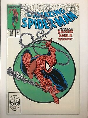 Amazing Spider-Man #301 High Grade Classic McFarlane Cover. Silver Sable App