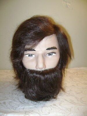 Pivot Point Series Samuel Bearded Male Mannequin Head