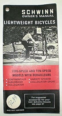 schwinn lightweight bicycle owners manual 6 00 picclick rh picclick com Schwinn Ranger 2.5 Schwinn Ranger Parts