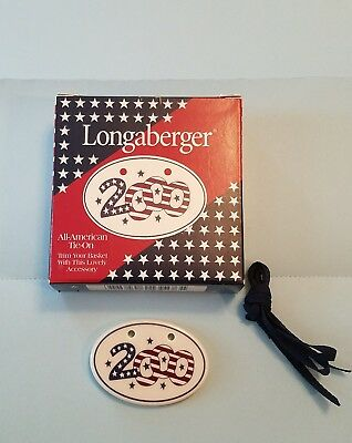 "Longaberger 2000 ALL AMERICAN ""SPARKLER""  Basket TIE ON~ NEW! #35483"